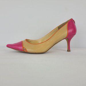 Ivanka Trump Pointed Toe Heels Size 8 Pink & Brown